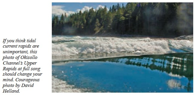 NOT a good time to transit the rapids (photo from Waggoner Cruising Guide 2015)