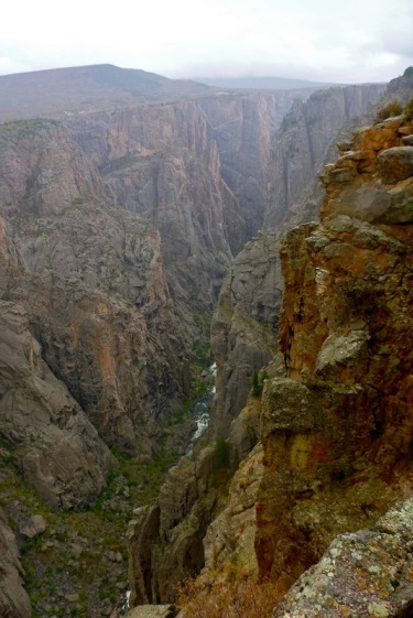 The Gunnison River 2700' below