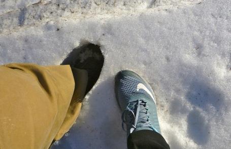 We finally found snow!