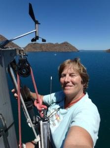 """Looking north toward """"the window"""" of Puerto Escondido"""