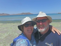 Enjoying a beach walk at looooow tide on Bahia de Quemada (Burned Bay)