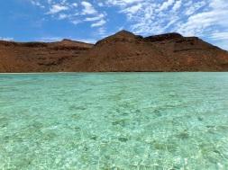 The crystal waters in Caleta Partida