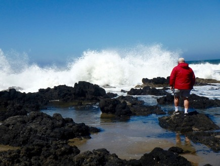 Marty checking out Thor's Well