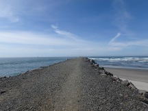 The north jetty on the Columbia