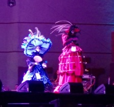 The Catrina on the right is walking on stilts!