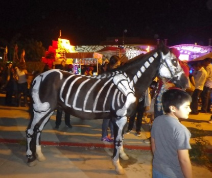 Even a horse for the catrina to ride!