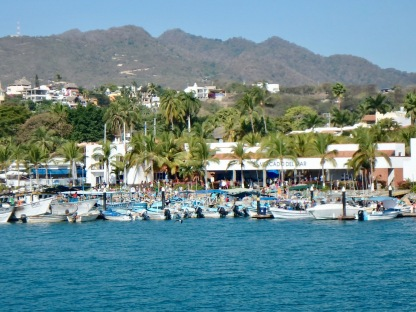 The La Cruz panga docks