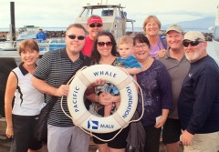 The gang heading out to see the whales