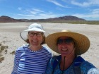 Walking across the salt flats Isla San Francisco