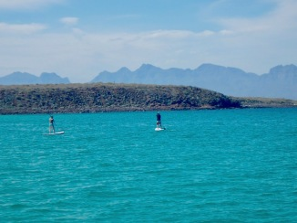 Paddle boarding around Isla Coronados