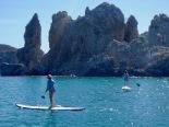 Paddle board snorkeling