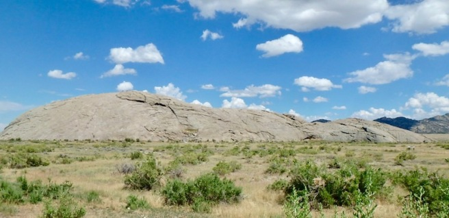 Independence Rock along the Oregon Trail, Wyoming