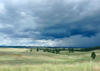Afternoon storms on the prairie