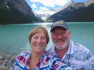 Yep, that's us at Lake Louise!!