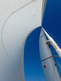 ...and full sails...
