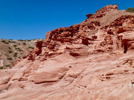 The red rock formations