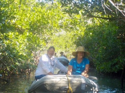 Dinghy ride through the mangroves