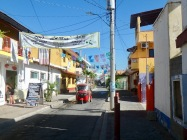 The narrow colorful streets of Barra