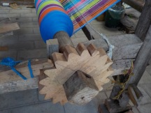 The warp on a loom