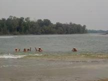 Swimming in the Rio Lempa