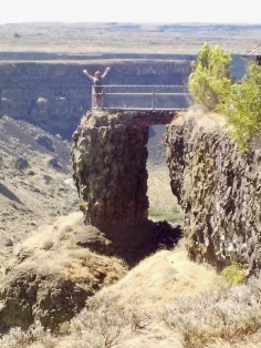 Standing above the gorge at Dry Falls
