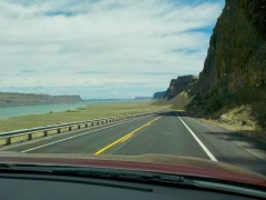 Driving along the Columbia
