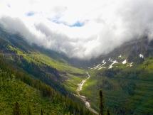 Glacier carved valley