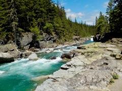 Beautiful creek without selfie people