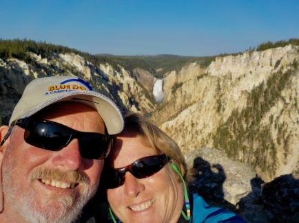 Morning selfie at the falls