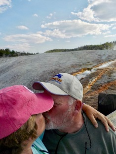 A selfie smooch! Final photo in Yellowstone