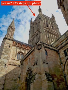 We explored the cathedral, from the crypt to the bell tower