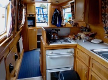 Looking aft from the galley