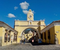Santa Catalina Arch, built in the 17th century, it originally connected the Santa Catalina convent to a school, allowing the cloistered nuns to pass from one building to the other without going out on the street.