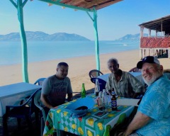 Jose, Roberto and Marty on Playa Negra