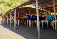 Boat storage on Playa Grande