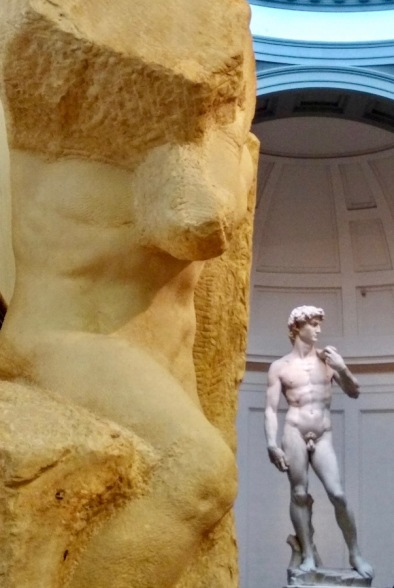 One of Michelangelos's Prisoners, and The David