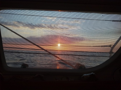 Sunset from the galley while making dinner